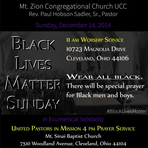 Black Lives Matter Sunday 12.14.14